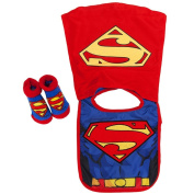 DC Baby Boys Infant Caped Bib And Bootie Set