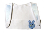 White Baby Bunny Hat with Blue Bunny Face