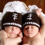 Melondipity Boys Football Crochet Baby Hat - High Quality Brown Handmade Beanie