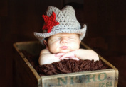 Handmade Western Cowboy Baby Hat Set with Cell Phone Anti-dust Plug