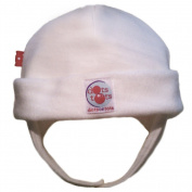 Dots on Tots Organic Cotton Ear Flap Hat- White