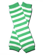 "GREEN & WHITE STRIPES ST PATRICK DAY - Baby Leggings/Leggies/Leg Warmers for Cloth Nappies - GIRLS OR BOYS & ONE SIZE by ""BubuBibi"""