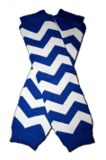 "BLUE AND WHITE ZIG ZAG ""ZIGZAG"" - Baby Leggings/Leggies/Leg Warmers for Cloth Nappies - GIRLS OR BOYS & ONE SIZE by ""BubuBibi"""