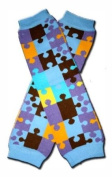 BLUE PUZZLES Baby Leggings/Leggies/Leg Warmers for Cloth Nappies - UNISEX & ONE SIZE by BubuBibi