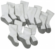 Jefferies Socks, Llc Unisex-baby Newborn 6 Pack Seamless Sport Half Cushion Crew Socks