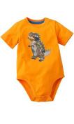 Orange Dinosaur Bodysuit 12 Months