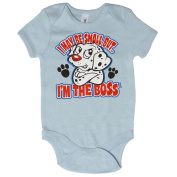 I May Be Small But I'm The Boss Dalmation Onsie