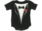 Wild Child By Bon Bebe Infant Tuxedo One-pc Bodysuit