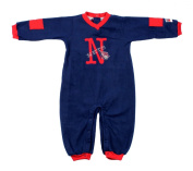 New Jersey Nets NBA Infants Bodysuit Fleece Coveralls, Navy Blue & Red