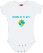 """Welcome to My World"" White Bodysuit/Onesie"