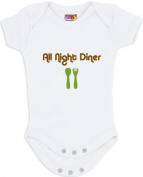 """All Night Diner"" White Bodysuit/Onesie"