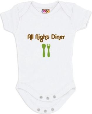 """All Night Diner"" White Bodysuit/Onesie"