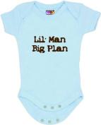 """""""Lil' Man, Big Plan"""" - Blue Bodysuit/Onesie"""