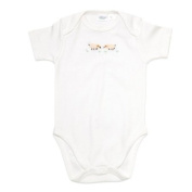 Jacaranda Living Short Sleeve Onesie, Cream Sheep, 3-6 Months