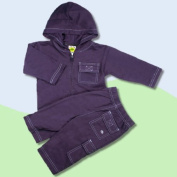 Baby and Toddler Surfer Dude Sweatsuit Outfit In Navy Blue