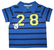 Carter's Blue Stripes Number 28 Polo and Pant Set - Blue