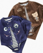First Impressions 3-piece Velour Set Baby/boy Mediaeval Blue