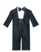 Lauren Madison baby boy Christening Baptism Special occasion Infant Tuxedo With Tails