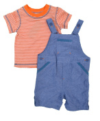 First Impressions Shortalls & Striped Tee Set
