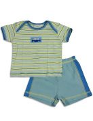 Cloud Mine - Newborn Boys Short Sleeve Stripe Short Set