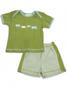 Cloud Mine - Newborn Boys Short Sleeve Bus Short Set