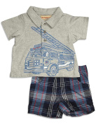 Kids Headquarters - Newborn and Infant Boys Short Sleeve Short Set