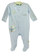 "Organic Boys ""Polar Bear & Penguin"" Clear Blue Coverall by Organically Grown"