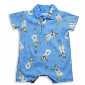 Pepper Toes by Baby Lulu - Newborn And Infant Boys Short Sleeve Snowman Romper