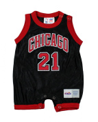 Chicago Bulls NBA Infants Marcus Fizer # 21 Jersey Romper, Black & Red