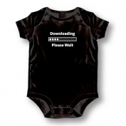 "Attitude Rompers ""Downloading"" Baby Romper"