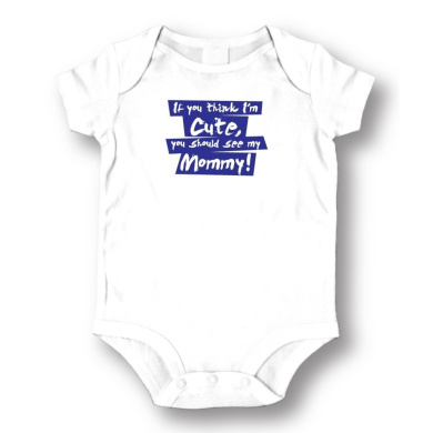 """Attitude Rompers """"See My Mommy"""" Baby Romper"""