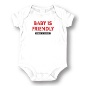"Attitude Rompers ""Baby Is Friendly"" Baby Romper"