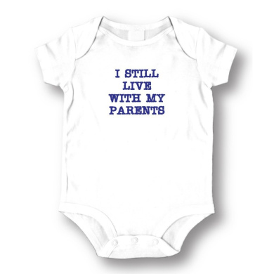 """Attitude Rompers """"Live With My Parents"""" Baby Romper"""