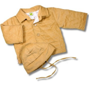 Baby Corduroy jacket and hat Tan
