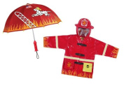Kidorable Fireman Rain Coat and Umbrella Set