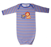 Funkoos King of the Jungle Organic Cotton Sleep Gown for Newborn Baby Infant Boy