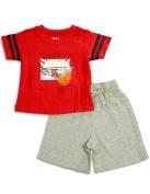 Wes And Willy Sleepwear - Infant Boys Short Sleeve Basketball Shortie Pyjamas