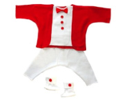 Red and White Holiday Tuxedo Suit