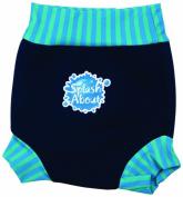 Splash About Kids Reusable Swim Happy Nappy - Navy/Blue Lagoon Stripe Rib, XX-Large, Toddler
