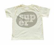 """Super"" Boy's Soft Yellow Toddler T-shirt"
