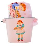 Vintage-style Pink Kids Cooking Lap T-shirt & Bucket
