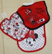 3pk Snap Closure Bib Disney Minnie Born to Shop