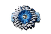 """BLUE ZEBRA Jewel Gerbera Daisy Flower Crochet Headband Gerber for Girls/ Child/ Baby Toddler apparel head hair band bow bows girl soft infant youth accessory by """"BubuBibi"""""""