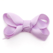 Reflectionz Baby Girls Lilac Grosgrain Ribbon Hair Bow Clippie