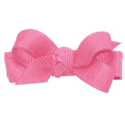 Wee Ones® Baby Classic Grosgrain Hair Bow w/Knot Wrap Centre - Black