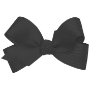 Wee Ones® Mini Classic Grosgrain Hair Bow w/Knot Wrap Centre - Black