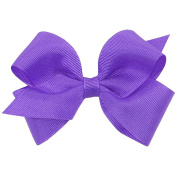 Wee Ones® Small Classic Grosgrain Hair Bow w/Plain Wrap Centre - Antique White