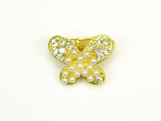 Tender Pearl Butterfly - MINI Baby Girl & Toddler Hair Clip - Pink, Purple, White & Yellow