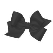 Wee Ones® Medium Classic Grosgrain Hair Bow w/Knot Wrap Centre - Black