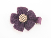 Crochet Stitched Flower - Baby Girl & Toddler Hair Clip - Red, Pink, White & Purple
